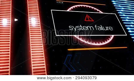 Program Failure Warning Notifications All Over The Screen, Security Alert Concept. Animation. Comput