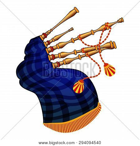 Bagpipes Icon. Cartoon Of Bagpipes Vector Icon For Web Design Isolated On White Background