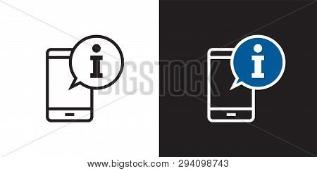 Call Info Icon Isolated On Background. Calling Information Icon Simple Sign. Vector Illustration. Fo