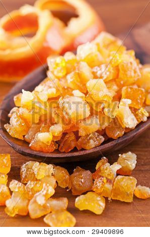 candied orange peel poster
