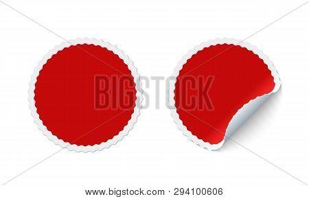 Blank Round Adhesive Vector & Photo (Free Trial) | Bigstock