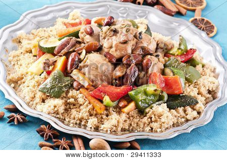 couscous marocain with chicken