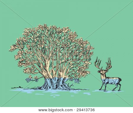 Tree and Deer