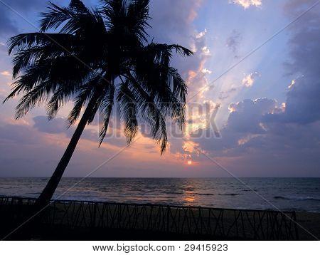 Sunset At Kalutara  Beach