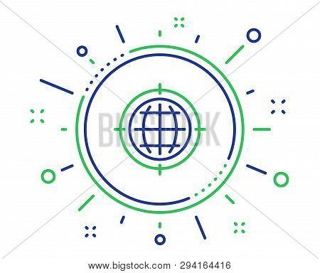 Seo Target Line Icon. Search Engine Optimization Sign. Internet Symbol. Quality Design Elements. Tec