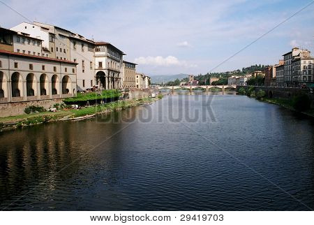 River Canal in Florence Italy