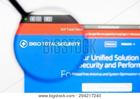 Los Angeles, California, Usa - 8 April 2019: Illustrative Editorial Of 360 Security Technology Websi