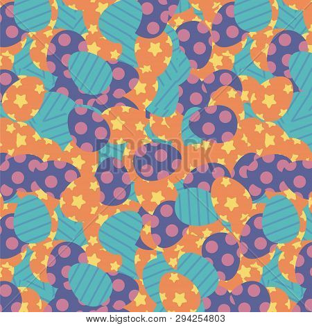 Easter Or Paschal Eggs Background Vector Illustration, Cute Fabric Pattern Design Clipart