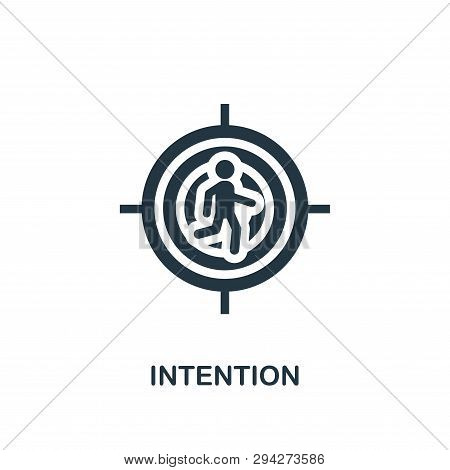 Intention Icon. Creative Element Design From Productivity Icons Collection. Pixel Perfect Intention