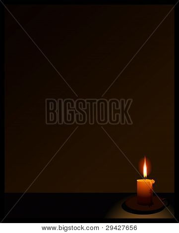 background with a candle