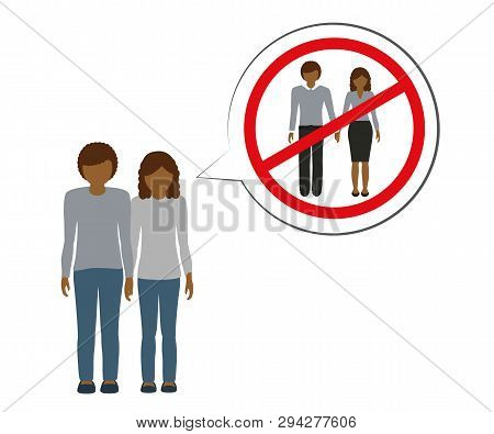 Orphan Brother And Sister Thinking About Parents Vector Illustration Eps10