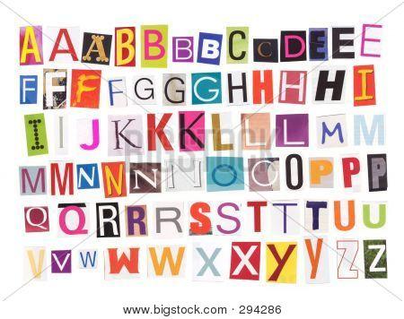 Alphabet - Magazine Cutouts