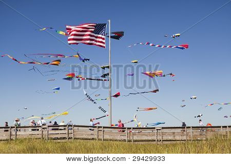Kites And Beach Boardwalk