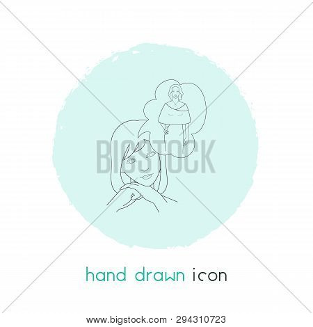 Alter Ego Icon Line Element.  Illustration Of Alter Ego Icon Line Isolated On Clean Background For Y