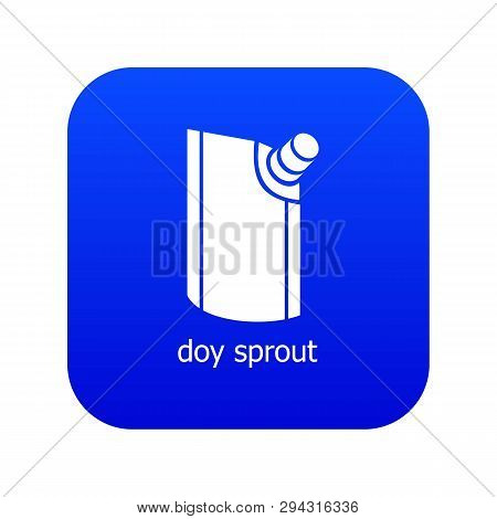 Doy Pack Icon Blue Vector Isolated On White Background