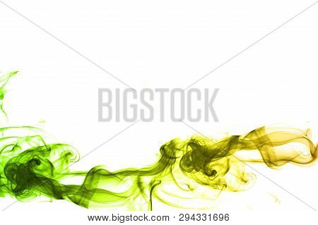 Abstract Smoke Graphic On A White Background