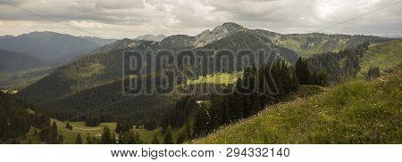 Mountain View Panorama From Setzberg Mountain, Bavaria, Germany