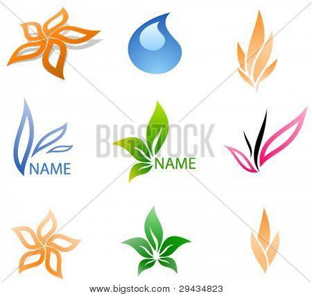 Vector business logos set
