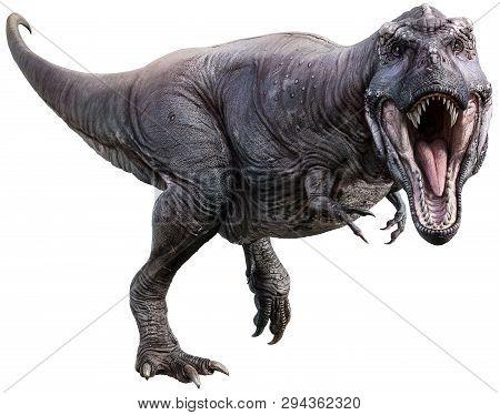 Tyrannosaurus Rex From The Cretaceous Era 3d Illustration