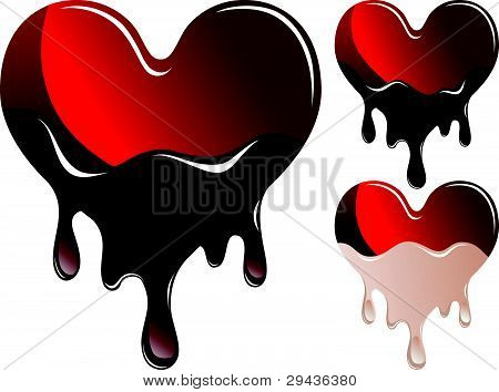 Hearts in chocolate