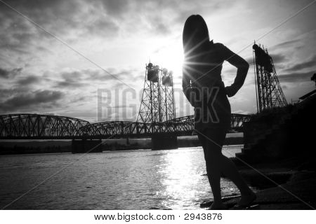 Silhouette On The River