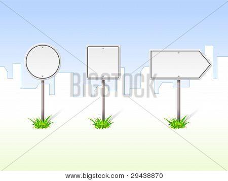 Blank Traffic Signs