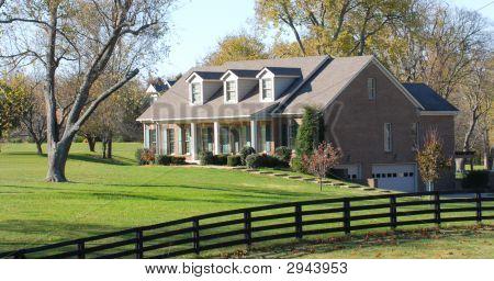 Elegant Rural Home Resting On A Large Lot