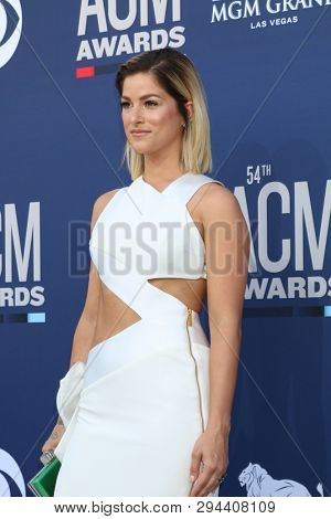 LAS VEGAS - APR 7:  Cassadee Pope at the 54th Academy of Country Music Awards at the MGM Grand Garden Arena on April 7, 2019 in Las Vegas, NV