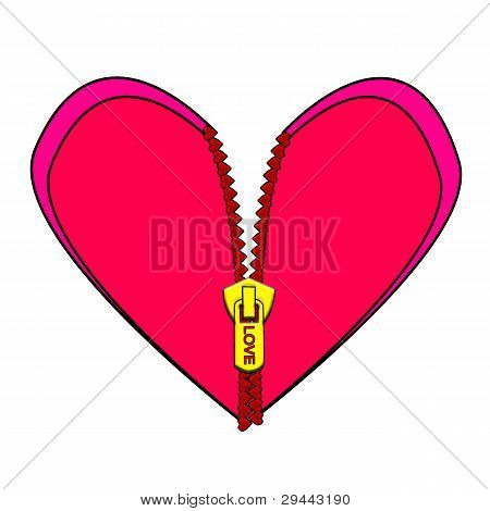 zipped heart