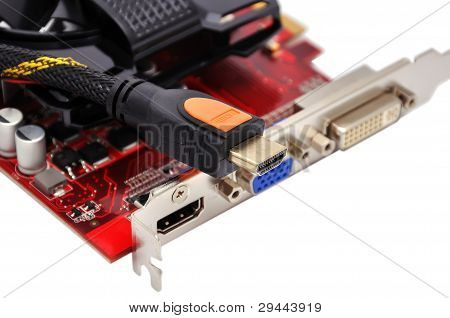 Video Card And Hdmi Cable