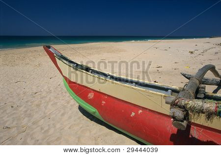 Boat On Kalutara  Beach Sri Lanka