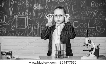 School Classes. Observe Chemical Reactions. Chemical Reaction Much More Exciting Than Theory. Girl W