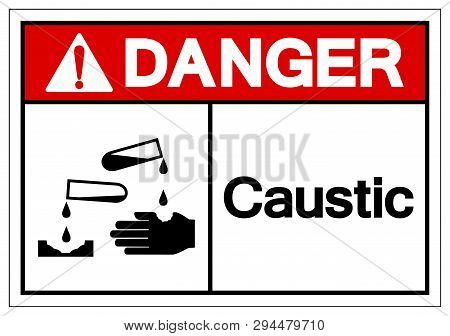 Danger Caustic Symbol Sign, Vector Illustration, Isolate On White Background Label .eps10