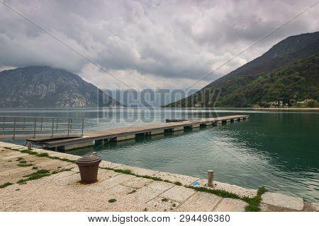 Lake And Mountain Landscape. Nature Landscape. Clouds And Lake Landscape. Outdoor Traveling Landscap
