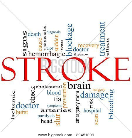 Stroke Word Cloud Concept