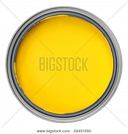 can with yellow paint