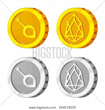Isolated Object Of Cryptocurrency And Coin Logo. Collection Of Cryptocurrency And Crypto Vector Icon