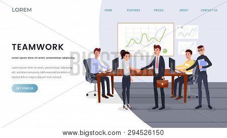 Teamwork, Business Coaching Landing Page Template. Business Development Training Classes, School Web