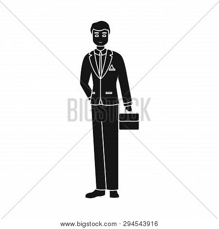 Isolated Object Of Man  And Business Icon. Collection Of Man  And Businessperson  Stock Vector Illus