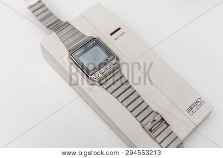Moscow, Russia - June 11, 2018: Seiko Wrist Wath Information System Uc-2001. Watch Communicates With