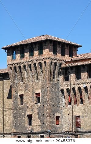 Perspective of the Accursio Palace. Bologna. Emilia-Romagna. Italy. poster