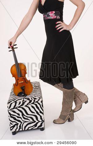 Violin On Ottoman