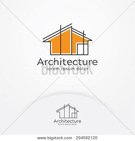 Architecture Logo Design, Vector Construction Company Brand Design Template. Architect And Construct