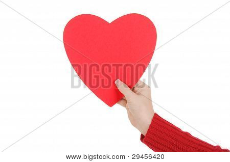 Female Hand Holding A Paper Heart