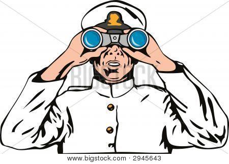 Captain With Binoculars
