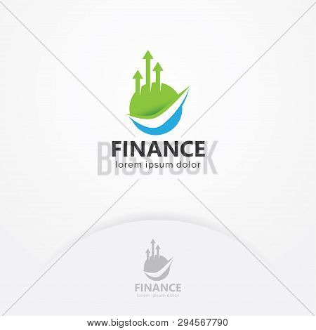 Finance Logo, Vector Of Finance With Round Shape And Arrows Growth Up