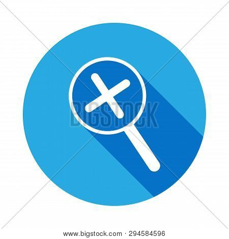 Magnification Icon With Long Shadow. Element Of Web Icons. Premium Quality Graphic Design Icon. Sign