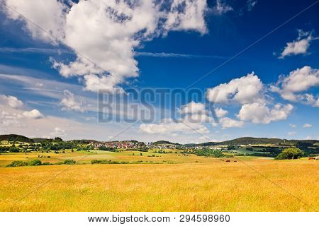 Small german village in Sauerland at sunny summer day
