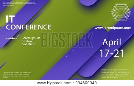 Conference Announcement. Seminar Design Template. Material Design. Business Conference Abstract Cove