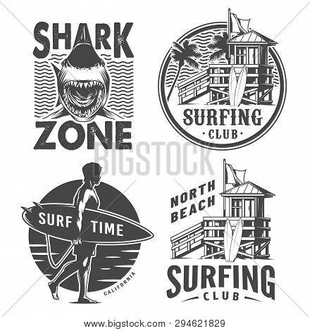 Vintage Surf Logos Vector & Photo (Free Trial) | Bigstock